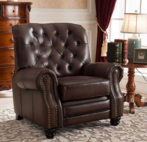 Marshall Brown Leather Recliner Chair