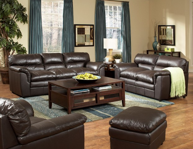Weston Dark Brown Living Room Set
