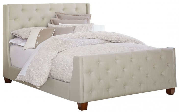 Carmen Grey King Upholstered Bed