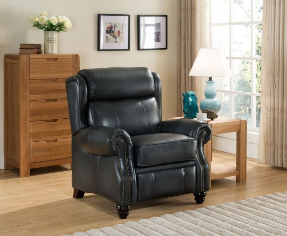 Ashton Grey Leather Recliner Chair