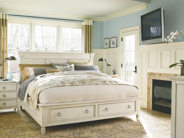Summer Hill Cotton Panel Storage Bedroom Set