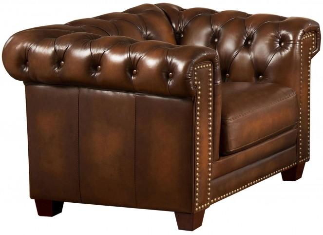 Stanley Park II Brown Leather Armchair