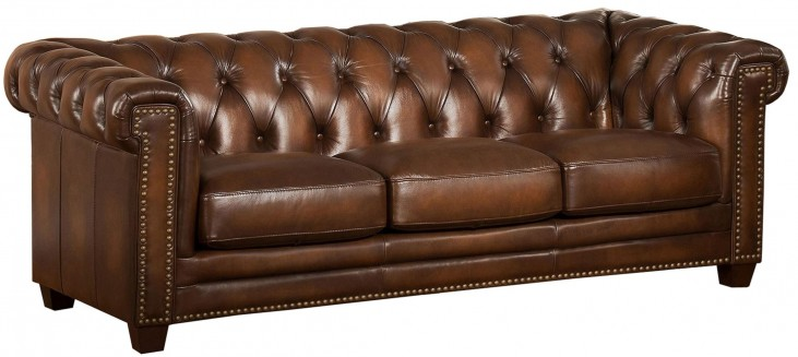Stanley Park II Brown Leather Sofa