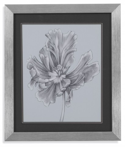 Silvery Blue Tulips III Wall Art