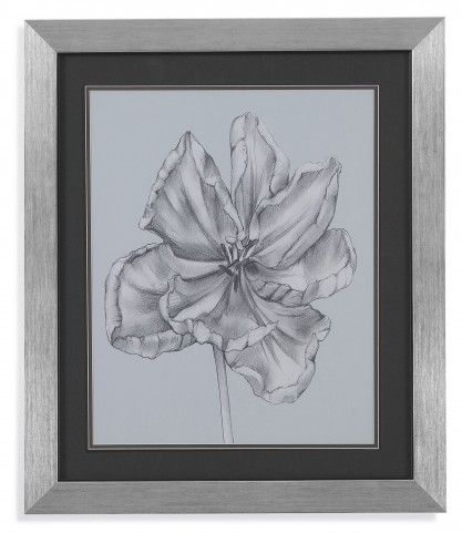 Silvery Blue Tulips IV Wall Art