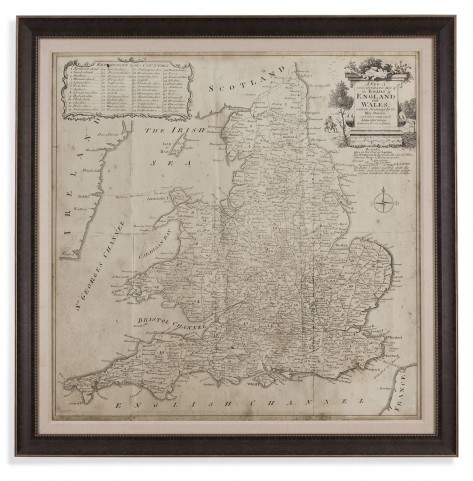 Road Map of England & Wales Wall Art