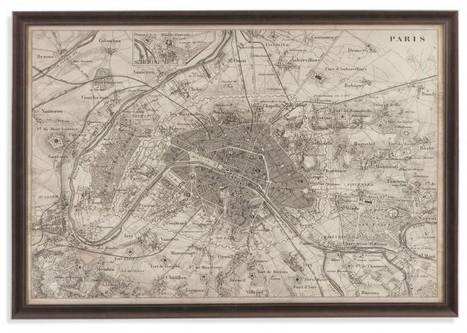 Map of Paris Wall Art