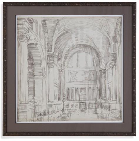 Interior Architectual Study IV Wall Art