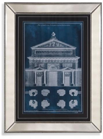 Palace Façade Blueprint I Wall Art