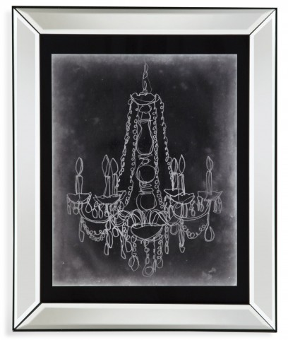Chalkboard Chandelier Sketch I Wall Art
