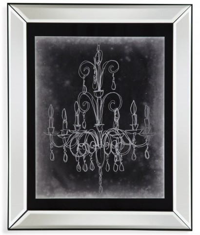 Chalkboard Chandelier Sketch II Wall Art