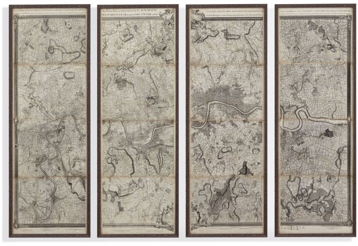 Map of London Panels Wall Art