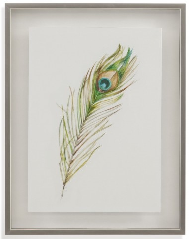 Watercolor Peacock Feather II Wall Art