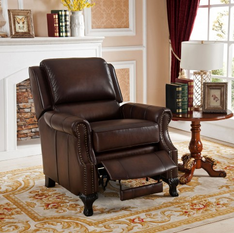 Milari Brown Leather Recliner Chair