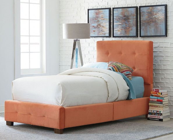 Madison Orange Twin Upholstered Bed