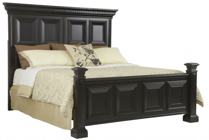 Brookfield Antique Black King Panel Bed