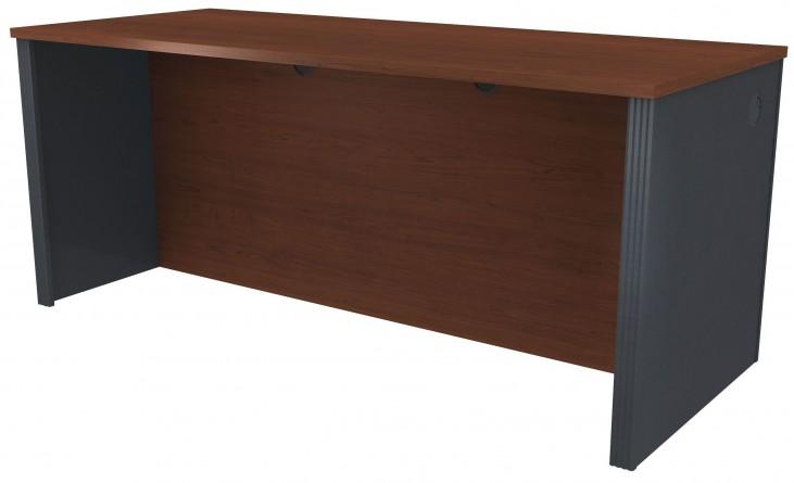 Prestige Plus Bordeaux & Graphite Executive Desk