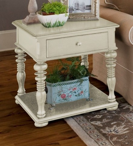Paula Deen Home Linen Rectangular End Table