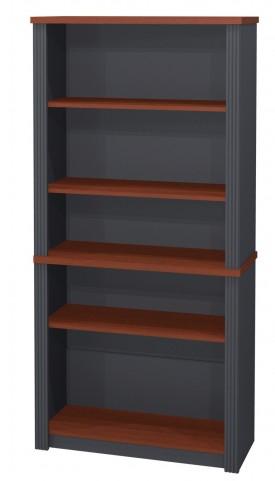 Prestige Plus Modular Bookcase In Bordeaux And Graphite