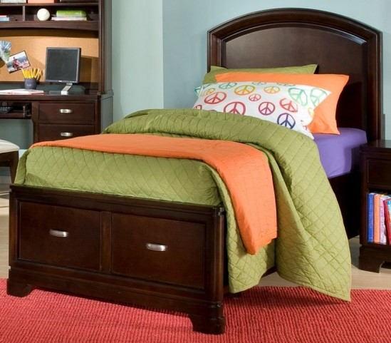 Park City Merlot Full Platform Storage Bed