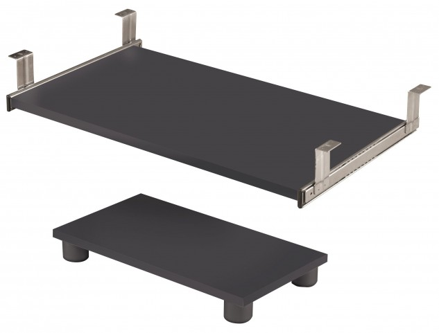 Prestige Plus Bordeaux & Graphite Keyboard Shelf and CPU Platform