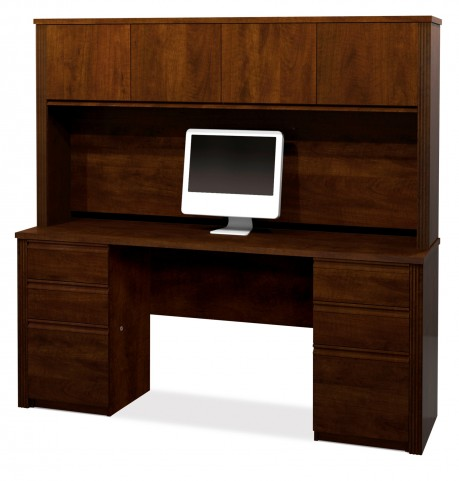 Prestige Plus Credenza And Hutch Kit In Chocolate