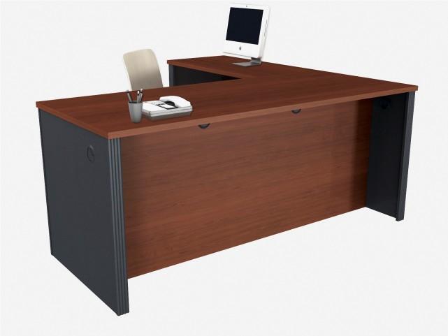 Prestige Plus Bordeaux & Graphite L-Shaped Workstation Kit