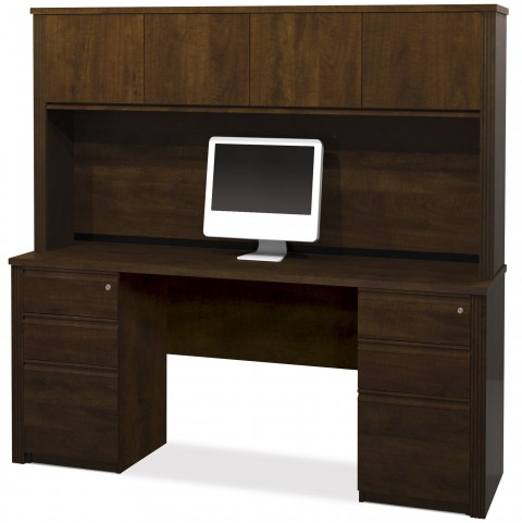Prestige Plus Chocolate Credenza with Hutch