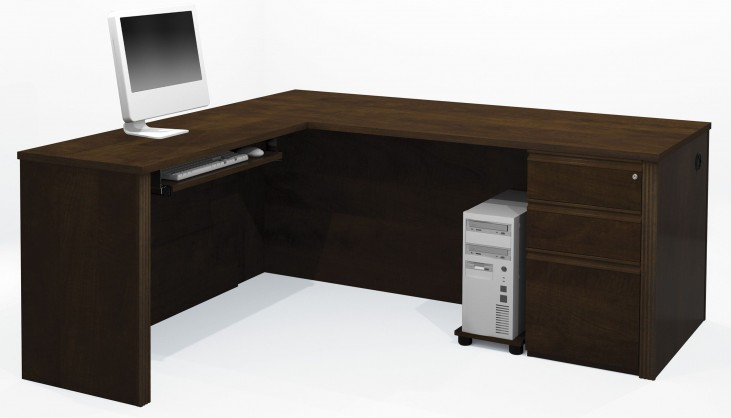 Prestige Plus Chocolate L-Shaped Workstation