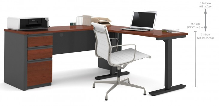 Prestige Plus Bordeaux & Graphite L-Desk