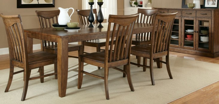 Arbor Hills Rectangular Leg Table Dining Room Set