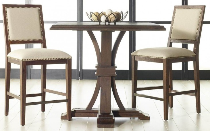 Devon Rustic Java Square Counter Height Dining Room Set