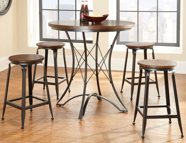 Adele Round Counter Height Dining Room Set
