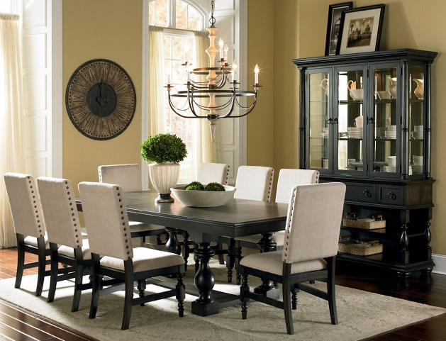 Leona Deep Charcoal Extendable Rectangular Dining Room Set