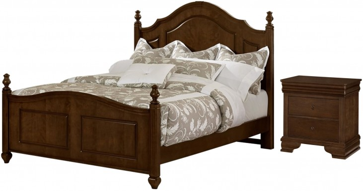 French Market French Cherry Poster Bedroom Set