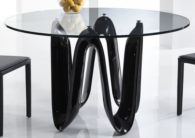 "Sapphire Black 52"" Round Dining Table"