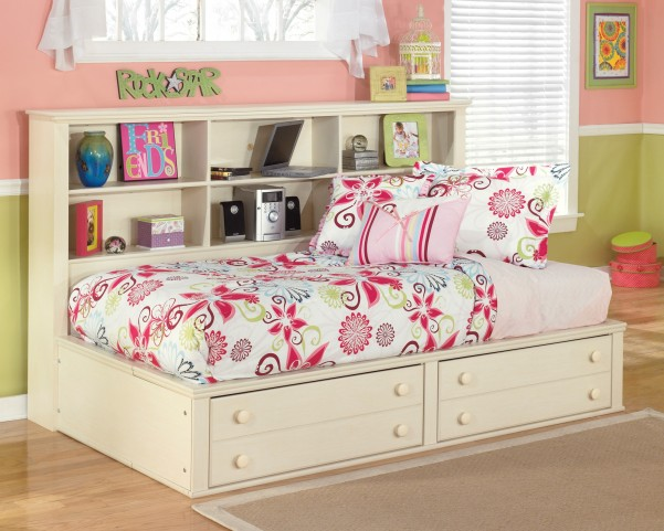 Cottage Retreat Full Bedside Storage Bed
