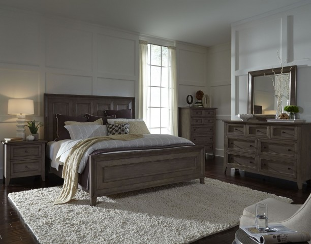 Talbot Driftwood Panel Bedroom Set