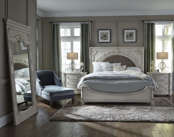 Davenport Weathered Parchment Panel Upholstered Bedroom Set