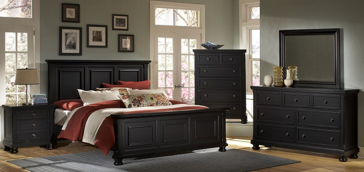 Reflections Ebony Mansion Bedroom Set