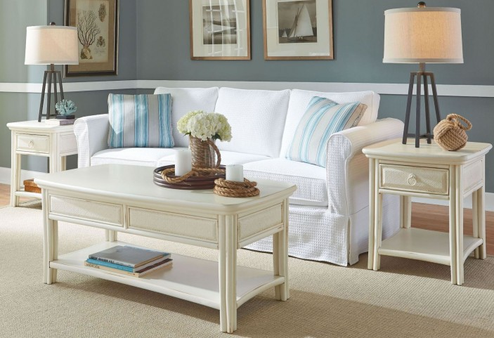 Siesta Sands White Sand Occasional Table Set