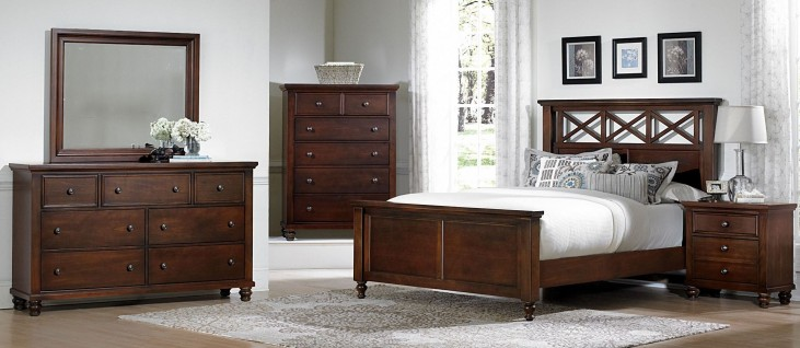 Ellington Cherry Garden Bedroom Set