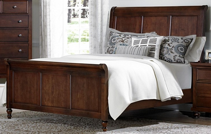 Ellington Cherry King Sleigh Bed