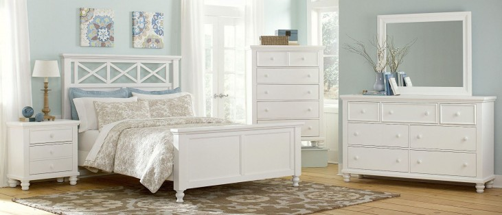 Ellington White Garden Bedroom Set