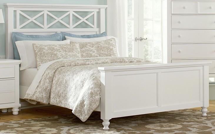 Ellington White Full Garden Bed