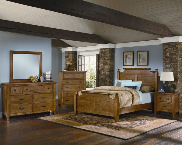 Timber Mill Oak Broomhandle Bedroom Set