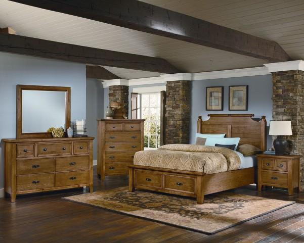 Timber Mill Oak Broomhandle Storage Bedroom Set