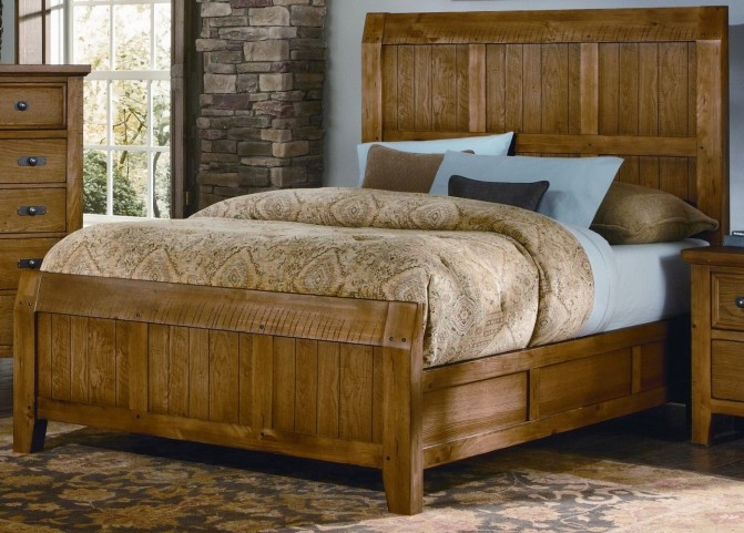 Timber Mill Oak King Timber Bed