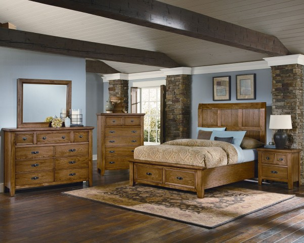 Timber Mill Oak Timber Storage Bedroom Set