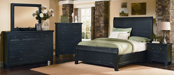 Timber Mill Charcoal Timber Bedroom Set